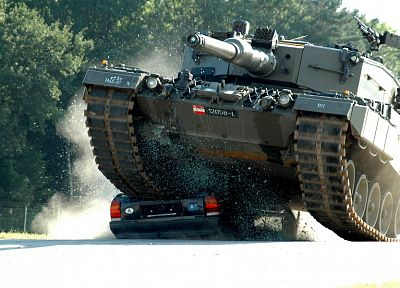 military, cars, weapons, tanks, crush, Leopard 2, Austrian Armed Forces - related desktop wallpaper