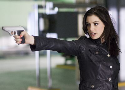 women, Anne Hathaway, actress, girls with guns - random desktop wallpaper