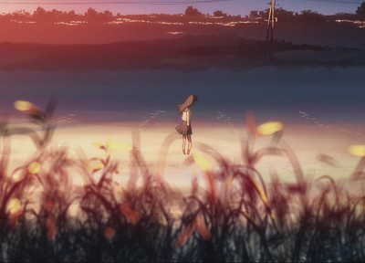 Makoto Shinkai, lonely, scenic, 5 Centimeters Per Second, artwork, anime - related desktop wallpaper
