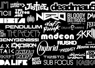 Tiësto, Daft Punk, Deadmau5, justice, Hybrid, Pendulum, Skrillex, Nero, Boys Noize, bands, danger, feed me, Knife Party, Dada life, kaskade, Rusko, Avicii, Sub Focus, Raven, Alex Metric - related desktop wallpaper
