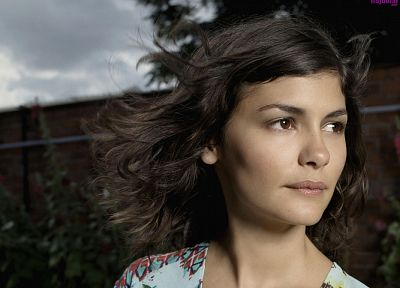 women, actress, Audrey Tautou, faces - random desktop wallpaper