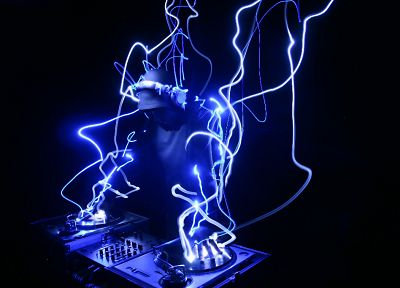 music, lights, techno, turntables, house music, DJ - related desktop wallpaper