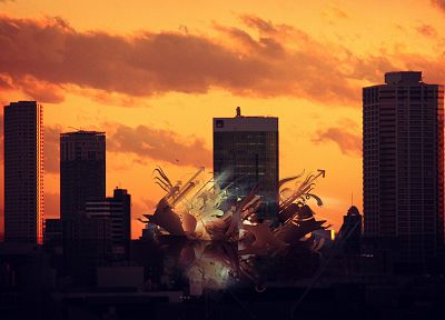 sunset, abstract, cities - random desktop wallpaper