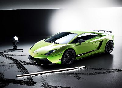 cars, Lamborghini, green cars, Lamborghini Gallardo LP570-4 Superleggera - random desktop wallpaper