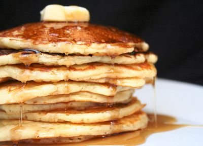 food, pancakes, maple syrup, butter - random desktop wallpaper