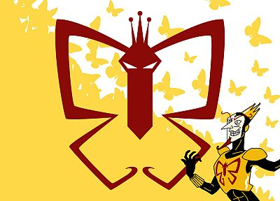 yellow, The Venture Bros., The Monarch, butterflies - random desktop wallpaper