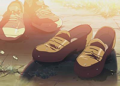 shoes, Makoto Shinkai, anime, The Place Promised in Our Early Days - random desktop wallpaper