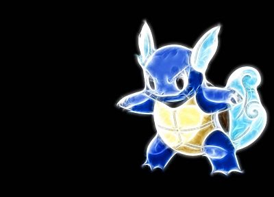 Pokemon, Wartortle, black background - desktop wallpaper