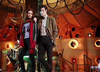 TARDIS, Matt Smith, Karen Gillan, Amy Pond, Eleventh Doctor, Doctor Who, Tardis Control Room - related desktop wallpaper