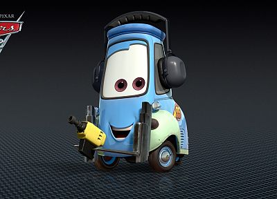 Cars 2, Guido, forklifts - random desktop wallpaper