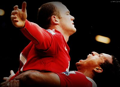 red, sports, soccer, devil, Wayne Rooney, nani, Manchester United - random desktop wallpaper