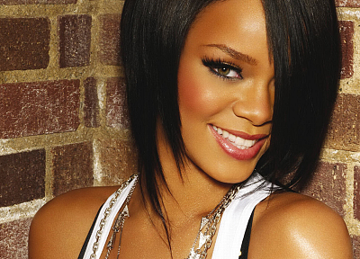 women, black people, Rihanna, celebrity, smiling, singers - related desktop wallpaper