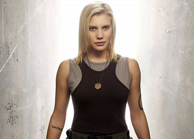 women, actress, Battlestar Galactica, Katee Sackhoff - random desktop wallpaper