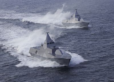 stealth, ships, navy, Swedish, vehicles, Visby class corvette, HSwMS Helsingborg - desktop wallpaper
