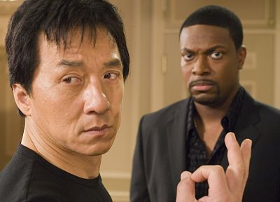 movies, men, Jackie Chan, actors, Rush Hour, Chris Tucker - related desktop wallpaper