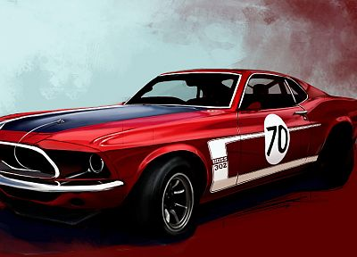 muscle cars, boss, racer, vehicles, Ford Mustang - random desktop wallpaper