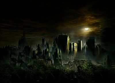 ruins, post-apocalyptic, cities - related desktop wallpaper