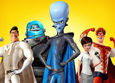 movies, animation, Megamind, Dreamworks - random desktop wallpaper