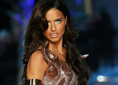brunettes, women, Adriana Lima - desktop wallpaper