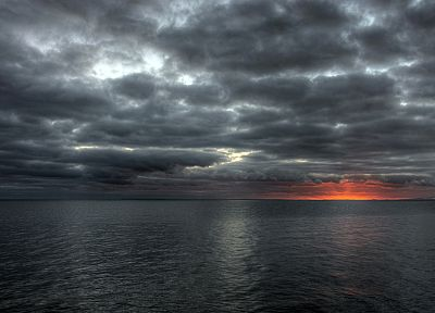 sunset, clouds, sea - related desktop wallpaper