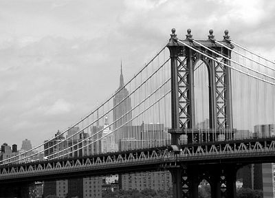 bridges, New York City, cities - random desktop wallpaper