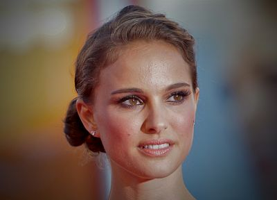 brunettes, women, actress, Natalie Portman, faces - random desktop wallpaper