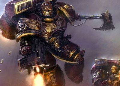 video games, space marines, bolter, science fiction, Blood Angels, Warhammer 40, 000, Warhammer 40k - random desktop wallpaper