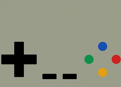 minimalistic, gamepad, Super Nintendo - desktop wallpaper