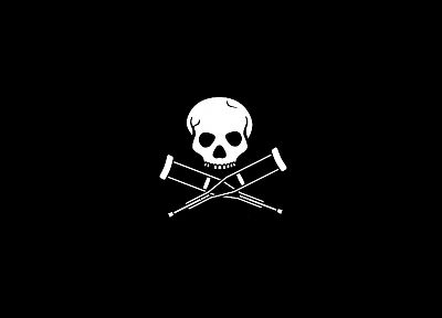 skulls, Jackass, black background - random desktop wallpaper