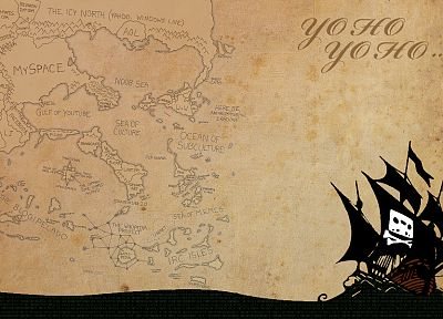 Internet, The Pirate Bay, maps, TPB - random desktop wallpaper
