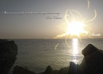 abstract, sunrise, Sun, quotes, Black Sea - random desktop wallpaper
