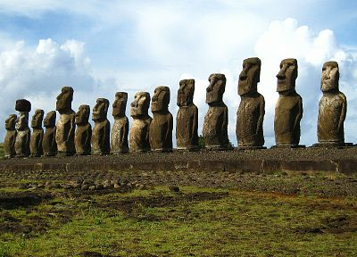 statues, Easter Island, moai - related desktop wallpaper