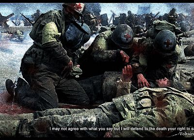war, Normandy, World War II, medic - random desktop wallpaper