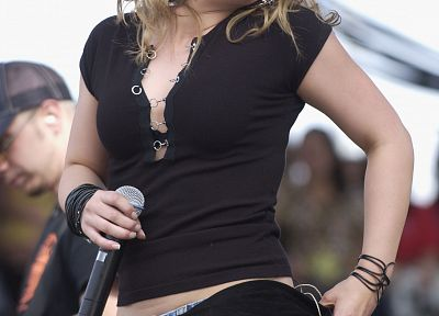 Hilary Duff, microphones - random desktop wallpaper