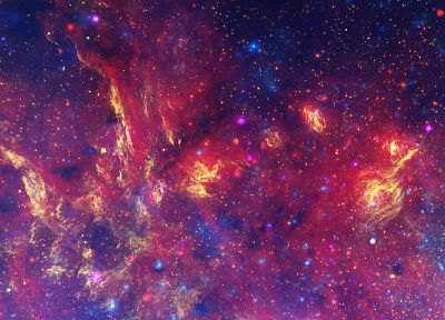 outer space, stars, nebulae, multiscreen - related desktop wallpaper