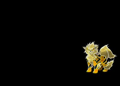 Pokemon, black background - random desktop wallpaper