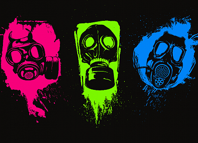 gas masks - desktop wallpaper