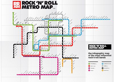 music, metro, subway, maps, Rock music, infographics - desktop wallpaper