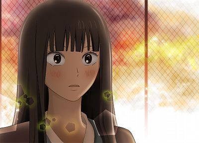Kimi ni Todoke, Kuronuma Sawako, anime girls, chain link fence - related desktop wallpaper