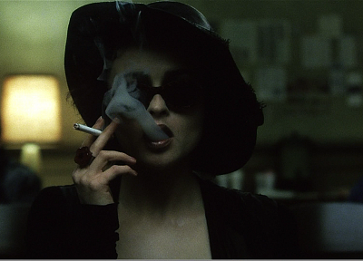 smoking, Fight Club, Helena Bonham Carter, cigarettes, Marla Singer - random desktop wallpaper