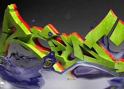 graffiti, 3D - random desktop wallpaper