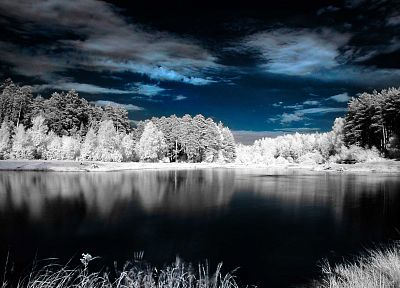 landscapes, nature, winter, lakes - random desktop wallpaper