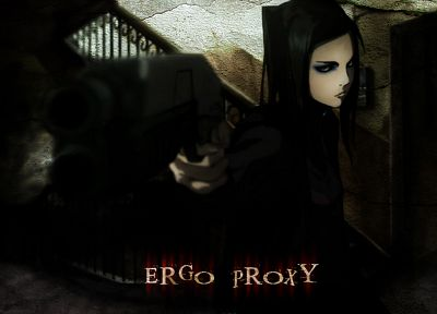 guns, Ergo Proxy, Re-l Mayer, anime girls - random desktop wallpaper