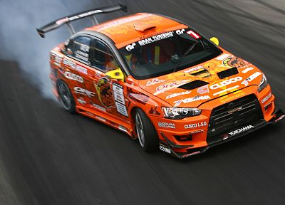 cars, lancer, drifting cars, vehicles, Formula Drift, Mitsubishi Lancer Evolution X, Mitsubishi Evo - random desktop wallpaper