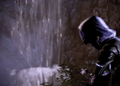 women, heroines, Mass Effect, outdoors, gas masks, space suits, Tali Zorah nar Rayya - desktop wallpaper