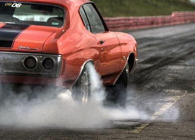 cars, orange, rubber, Chevrolet, chevelle, vehicles, Chevrolet Chevelle SS - desktop wallpaper