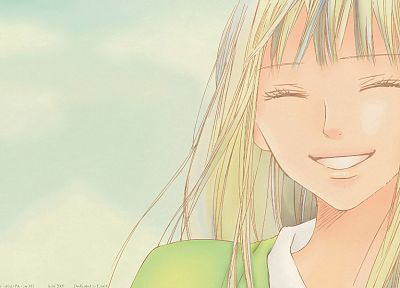 blondes, Kimi ni Todoke, smiling, Kuronuma Sawako, anime girls - random desktop wallpaper