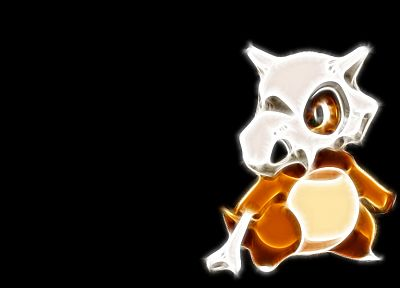 Pokemon, Fractalius, Cubone, black background - desktop wallpaper