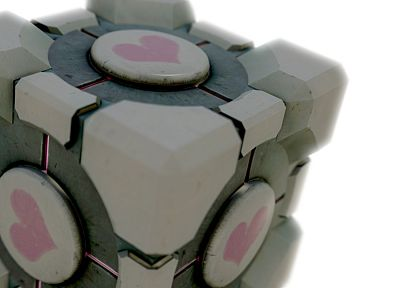 Portal, Companion Cube - random desktop wallpaper