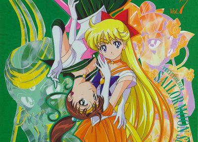 long hair, Sailor Venus, Sailor Jupiter, sailor uniforms, hair ornaments, Bishoujo Senshi Sailor Moon - random desktop wallpaper